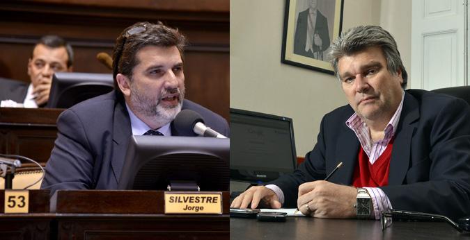 Presidentes de bloques, del FAP, Marcelo Díaz y de la UCR Jorge Silvestre