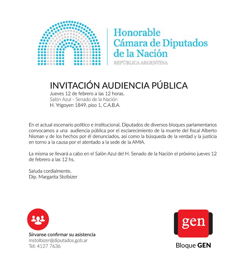 INVITACIÓN AUDIENCIA PÚBLICA