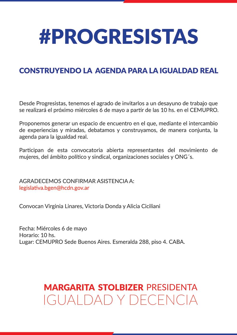 CONSTRUYENDO LA AGENDA PARA LA IGUALDAD REAL