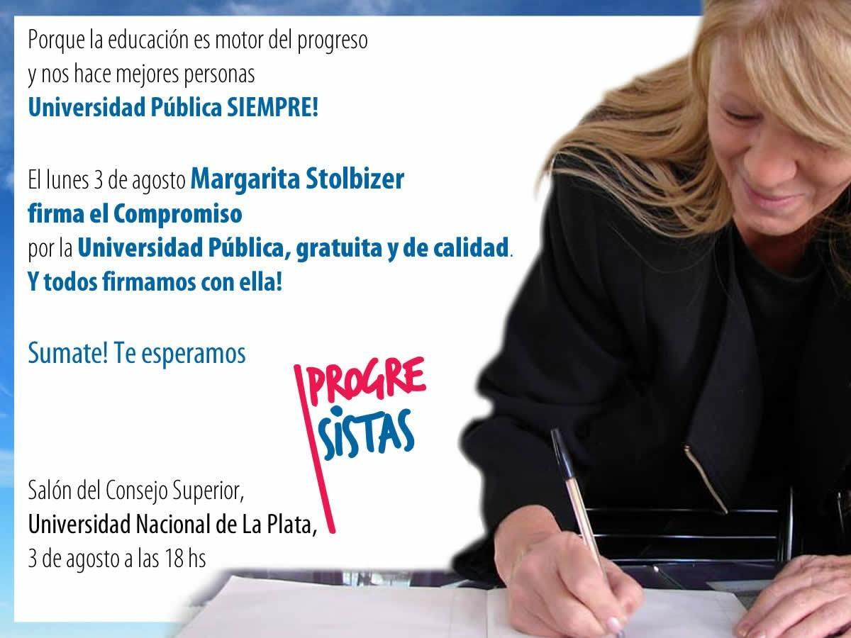 Firma del Compromiso PROGRESISTA con la Educación Pública, Gratuita y de Calidad