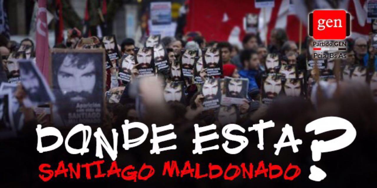 En el día de hoy el GEN de la provincia de Buenos Aires, marchará en distintas ciudades del interior bonaerense y en Capital federal, para reclamar junto a toda la ciudadanía, organizaciones políticas y sociales, por la aparición con vida de Santiago Maldonado.