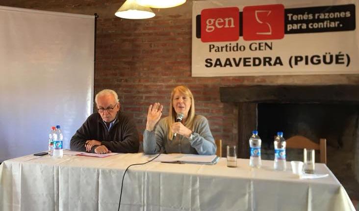 El pasado sábado 7 de abril, en Pigüé, se llevó adelante un nuevo plenario del Partido GEN de la Provincia de Buenos Aires.  La conducción provincial ha marcado una agenda con encuentros mensuales en las distintas secciones con el objetivo principal de fortalecer el partido.
