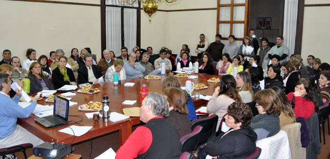 LA MUNICIPALIDAD DE RIVADAVIA CONVOCÓ EN LA CIUDAD DE AMÉRICA A LA PRIMERA REUNIÓN DE LA MESA DE DIÁLOGO SOCIAL DE ESTE AÑO