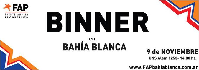 Binner en Bahía Blanca