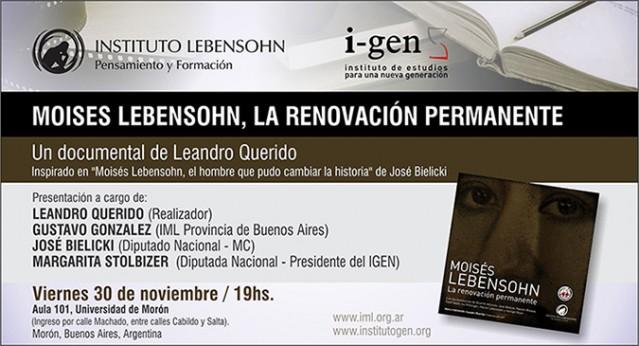 Moisés Lebensohn, la renovación permanente.
