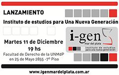 Se presenta el I-GEN Mar del Plata
