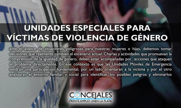 UNIDADES ESPECIALES PARA VÍCTIMAS DE VIOLENCIA DE GÉNERO