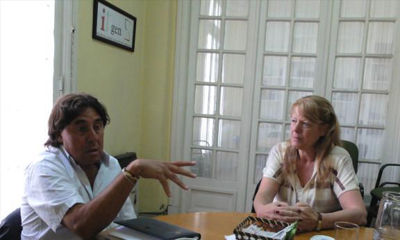 ENCUENTRO MARGARITA STOLBIZER CON PABLO MICHELI DE LA CTA