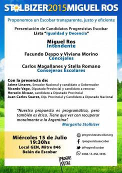 """Presentación de Candidatos  """"PROGRESISTAS""""  ESCOBAR"""
