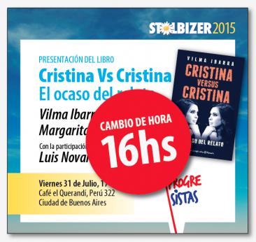 Invitación a presentación del libro Cristina vs Cristina