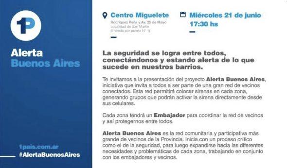 Miercoles 21 17.30hs  – ALERTA BUENOS AIRES