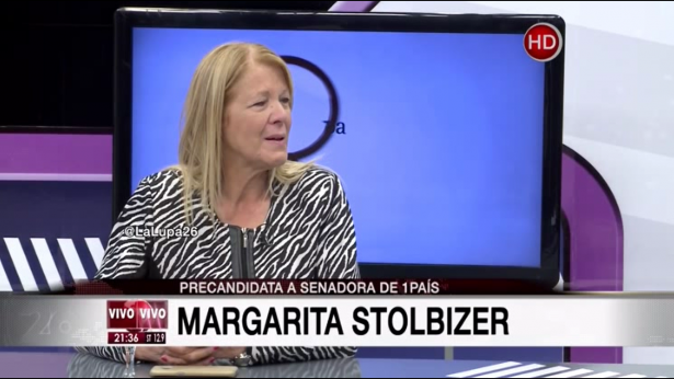 Margarita Stolbizer en LA LUPA Canal 26 8/08/17