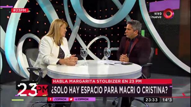 Margarita Stolbizer en 23PM por Canal 9 06/09/2017