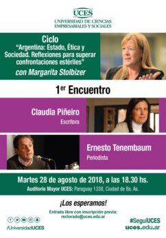LA ANTIGRIETA. STOLBIZER CONVOCA A REFLEXIONAR SOBRE ARGENTINA: ESTADO, ETICA Y SOCIEDAD.