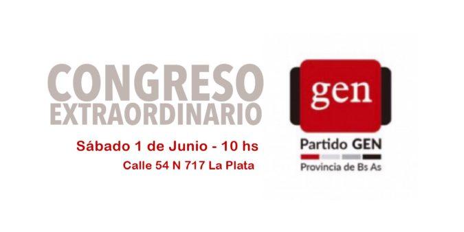 CONGRESO EXTRAORDINARIO 1/6  10 hs – La Plata