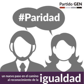 EL PARTIDO GEN RECLAMA SE CUMPLA LEY DE PARIDAD