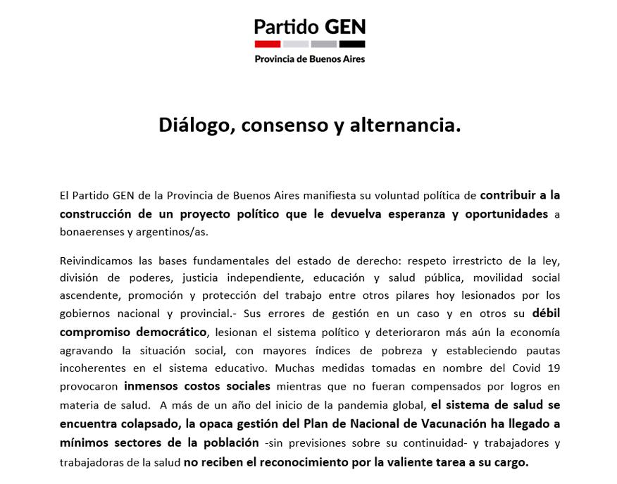 Diálogo, consenso y alternancia.